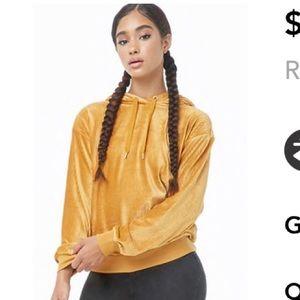 NWT FOREVER 21 velvet hoodie size medium women